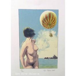 Žena a balón