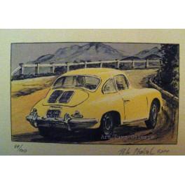 Žluté Porsche