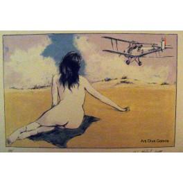 Dívka a letadlo